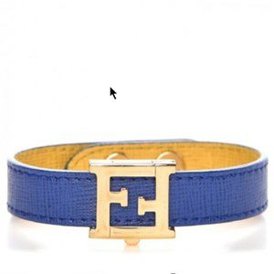 Fendi Crayons Reversible Yellow Bracelet